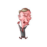 Angry short politician Royalty Free Stock Photos