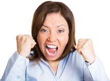 Angry shouting Stock Images
