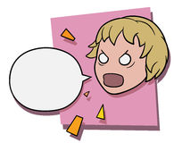 Angry shouting girl Stock Images
