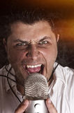 Angry singer Stock Image