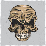 Angry Skull Poster Stock Photography