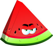 Angry slice of watermelon Royalty Free Stock Photography