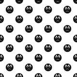 Angry smile pattern vector seamless. Repeating for any web design Royalty Free Stock Photos
