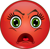 Angry smiley emoticon Stock Photos