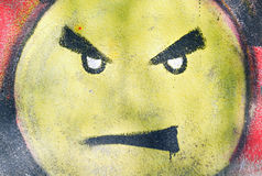 Angry smiley face Royalty Free Stock Image