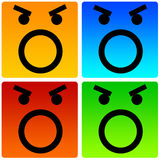 Angry smileys. Shouting, being aggressive and stressed out Stock Photography