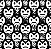 Angry sneaky smiley seamless pattern Stock Image