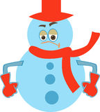 Angry Snowman Stock Images