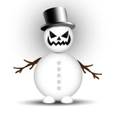 Angry Snowman Stock Photography