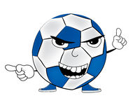 Angry soccer ball cartoon Stock Photography