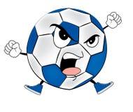 Angry soccer ball cartoon Royalty Free Stock Photo