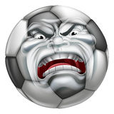 Angry Soccer Football Ball Sports Cartoon Mascot Stock Photo
