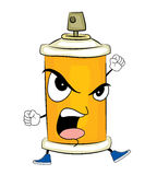 Angry spray can cartoon Royalty Free Stock Photos