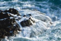 Angry spray and foam sail skyward Stock Image