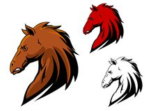 Angry stallion mascot Royalty Free Stock Image