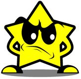 Angry star cartoon isolated Stock Images