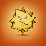 Angry star. Illustration of an angry looking star Stock Photo