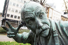 Angry statue Stock Images