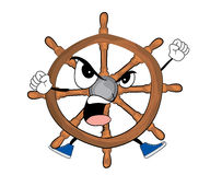 Angry steering wheel illustration Royalty Free Stock Photos
