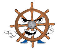 Angry steering wheel illustration Royalty Free Stock Images