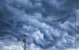 Angry Storm Clouds Over Ohio Royalty Free Stock Photos