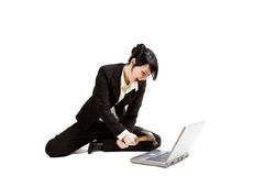 Angry and stressed businesswoman Royalty Free Stock Images
