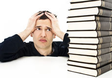 Angry student with learning difficulties Royalty Free Stock Image