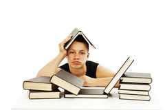 Angry student with learning difficulties Royalty Free Stock Photos