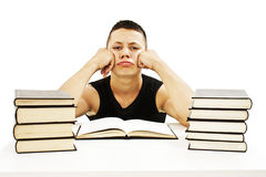 Angry student with learning difficulties Stock Photography