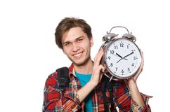 The angry student missing his deadlines Royalty Free Stock Image