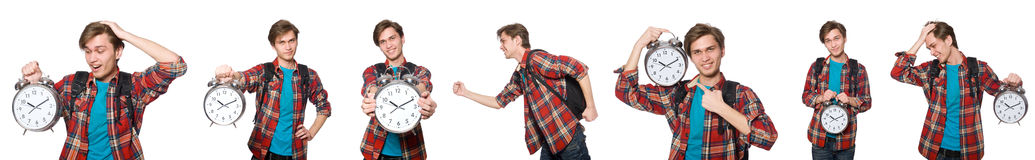 The angry student missing his deadlines Royalty Free Stock Photos