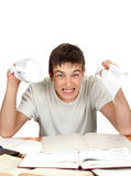 Angry Student with the Paper Royalty Free Stock Photo