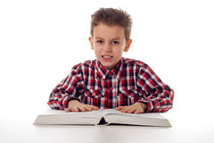 Angry student Royalty Free Stock Images
