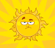 Angry sun Stock Photography