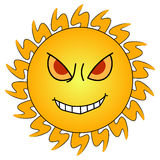 Angry Sun Royalty Free Stock Photography