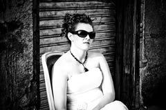 angry sunglesses woman Στοκ Φωτογραφία