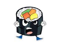 Angry sushi cartoon Stock Photo