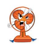 Angry table fan cartoon Stock Photography