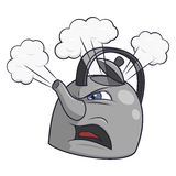 Angry tea kettle 2 Royalty Free Stock Photo