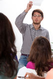 Angry teacher during classes Royalty Free Stock Photography