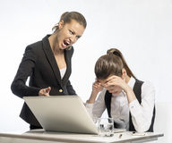 Angry teacher and resentful student Royalty Free Stock Image