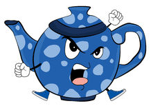 Angry Teapot cartoon. Vector illustration of angry teapot cartoon Stock Photography