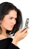 Angry with technology Stock Image