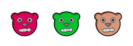 Angry teddy bears Royalty Free Stock Photo