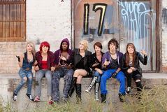 Angry Teen Punks Stock Photography