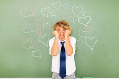Angry teenage boy Royalty Free Stock Images