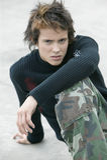 Angry teenage boy royalty free stock image