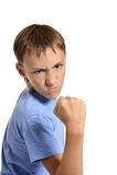 Angry teenage boy Stock Photo