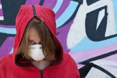 Angry teenage girl. Stock Photos