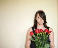 Angry teenage girl portrait Stock Photo